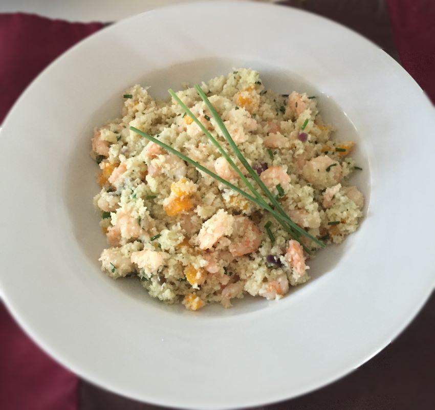 Low Carb Cauliflower Prawns Fried Rice