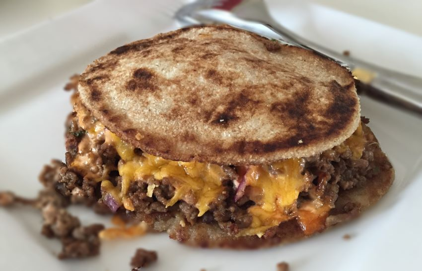 Low Carb Ground Beef Quesadillas