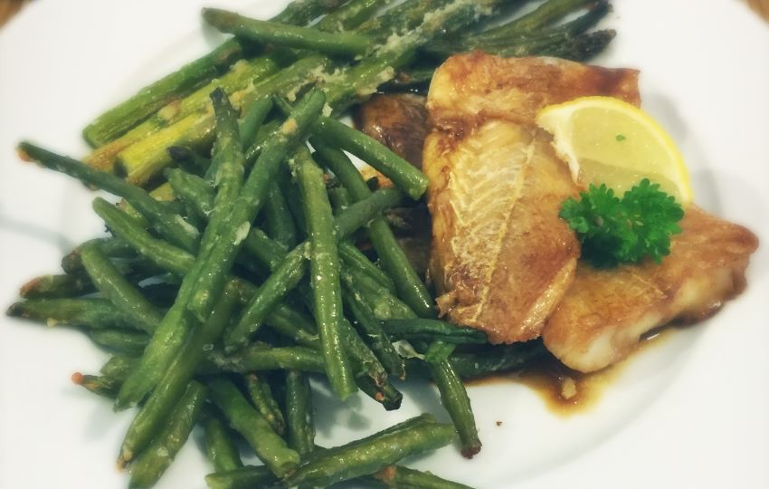 Low Carb Pan Fried Cod with Soy Sauce