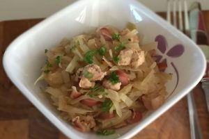 Low Carb Stewed Cabbage with Chicken