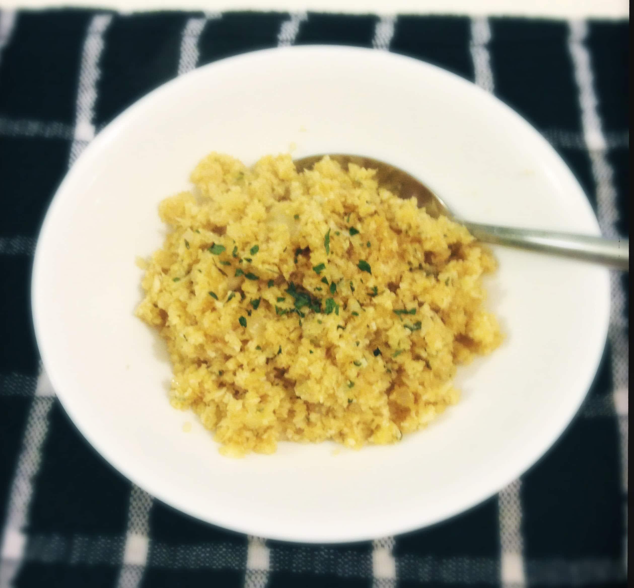 how to make cauli rice without a food processor