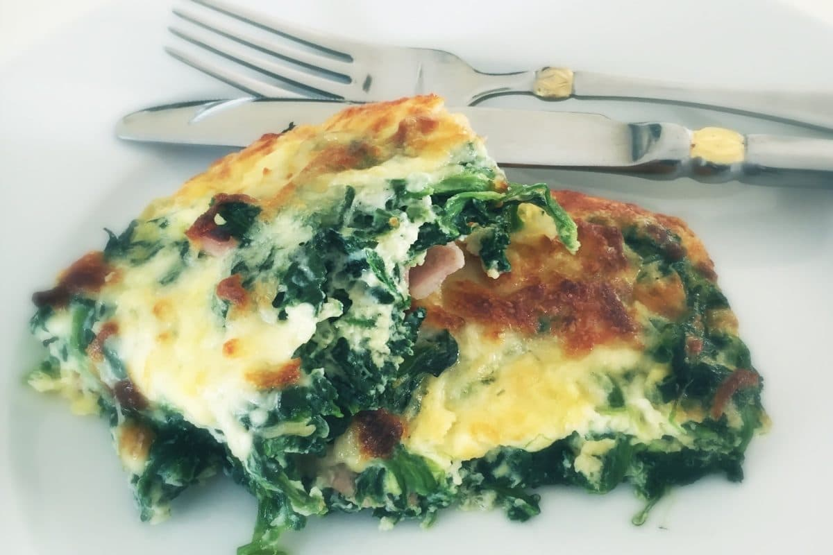 Low Carb Bacon Spinach Casserole
