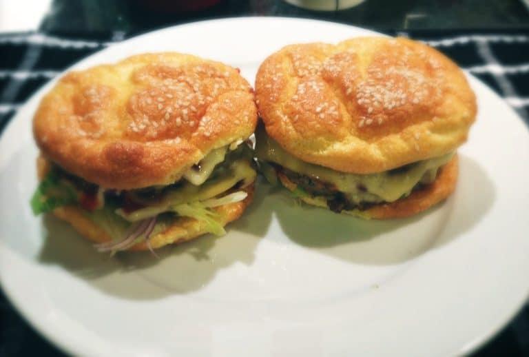 Low Carb Oopsie Bread Cheeseburgers