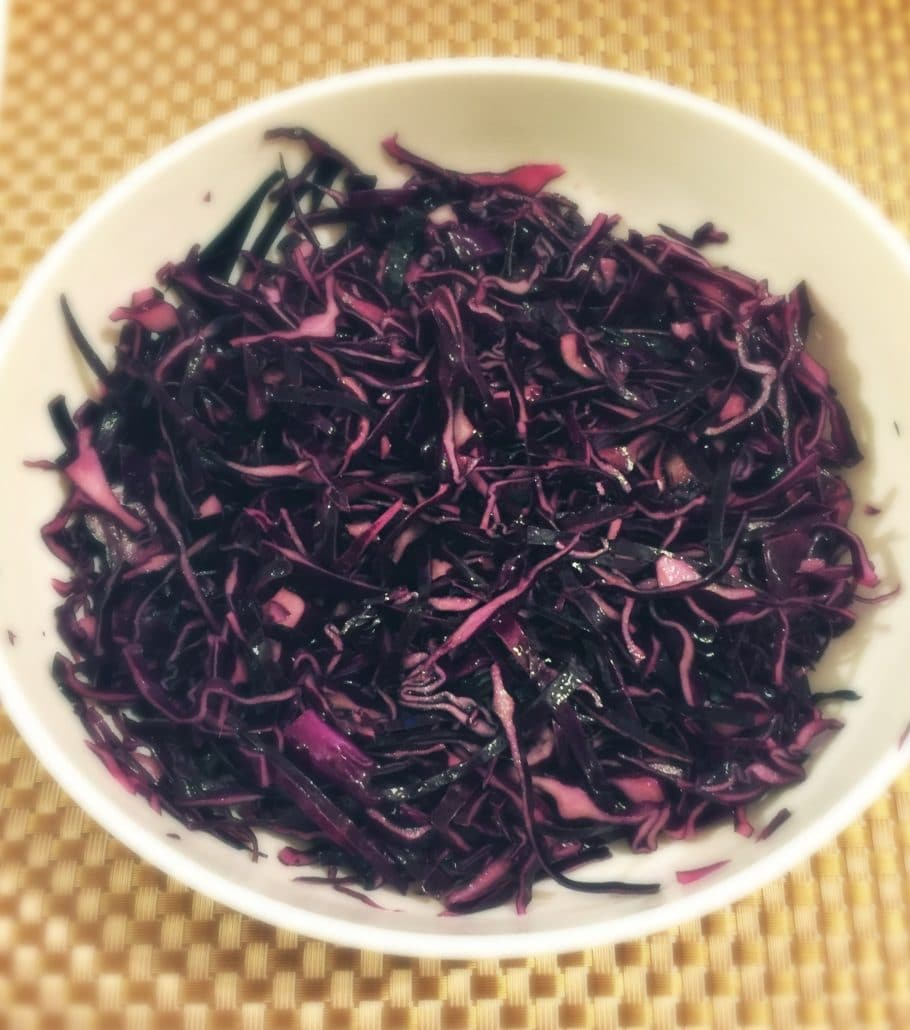 Low Carb Red Cabbage salad