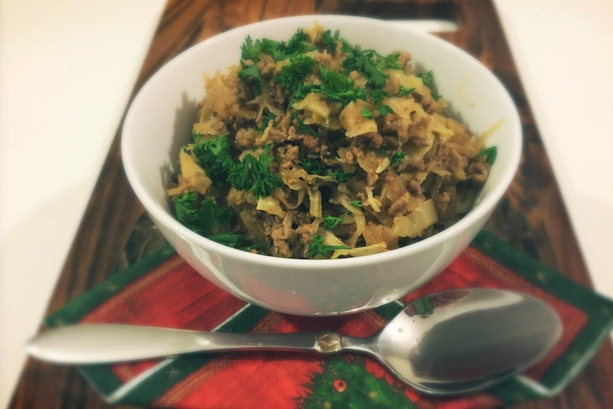 Low Carb Slow Cooked Sauerkraut with Beef