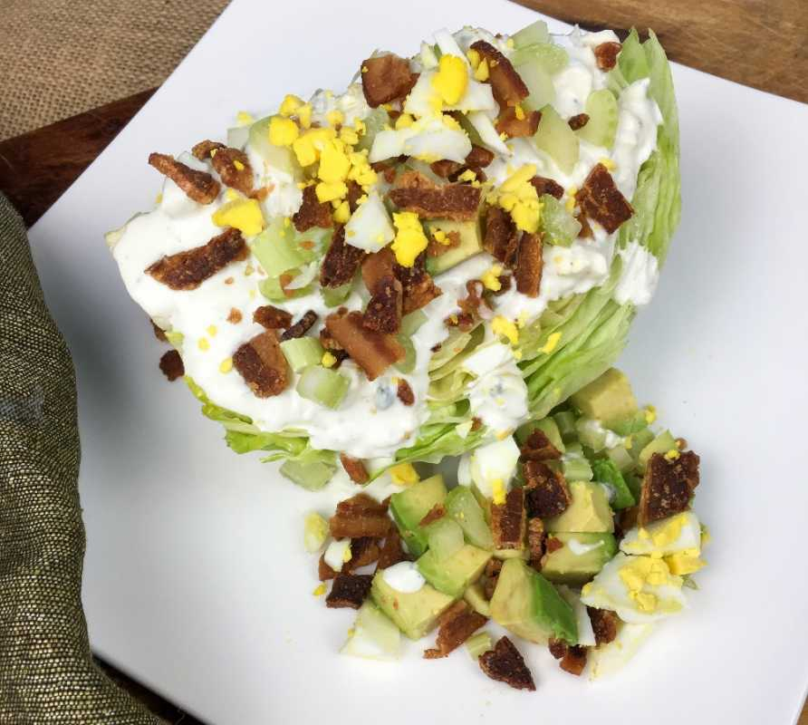Low Carb Wedge Salad with Homemade Blue Cheese