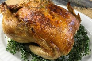 Low Carb Garlic-Herb Whole Roasted Chicken