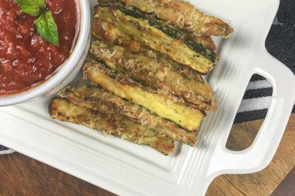 Low Carb Crispy Zucchini Fries