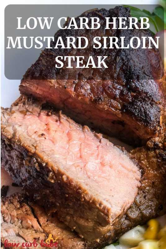 Low Carb Herb Mustard Sirloin Steak