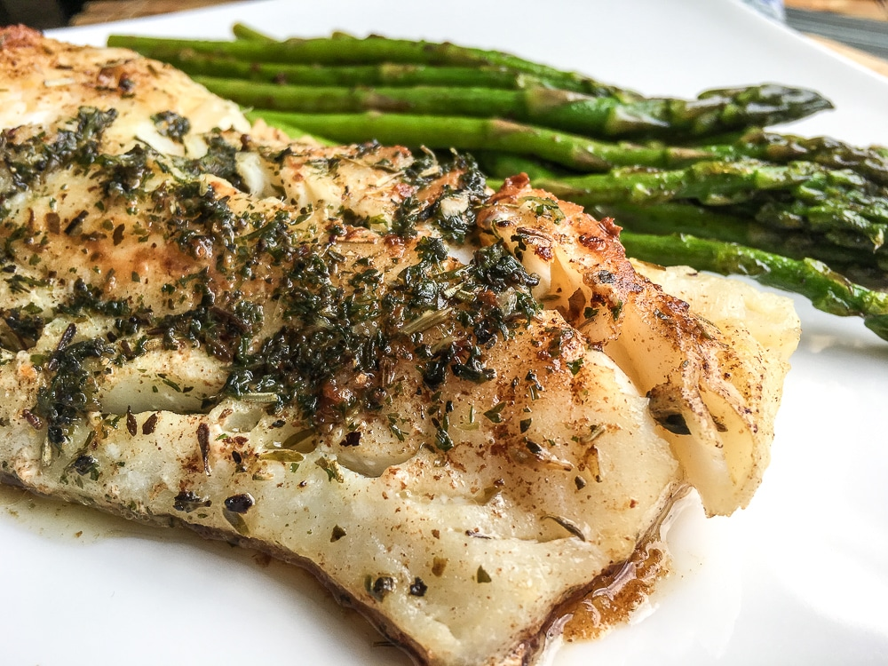 Low carb Garlic Herb Butter Cod